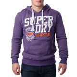 "Ανδρική Μπλούζα Hoodie ""Super Dry "" Authentic - Μωβ #www.pinterest.com/brands4all"