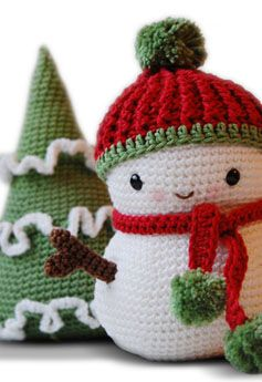 Snowman and Christmas Tree :: for wreath