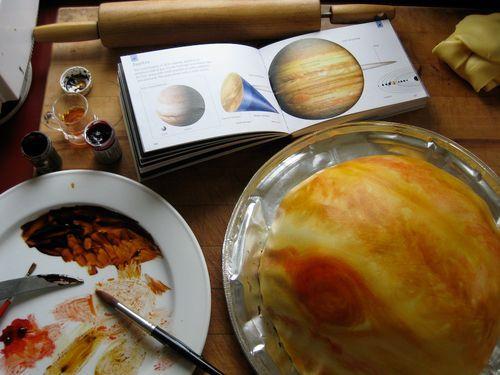 marshmalow fondant Jupiter cake - for E