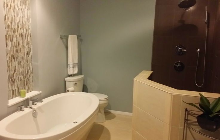 This Master Bath Makeover In Strongsville Oh Features A