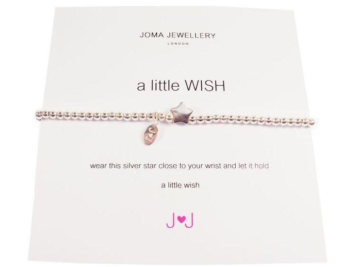 Joma jewellery a little wish bracelet silver star £11.99 http://www.fizzy-flower.co.uk/Joma-jewellery-a-little-wish-bracelet-silver-star-JJ93.html