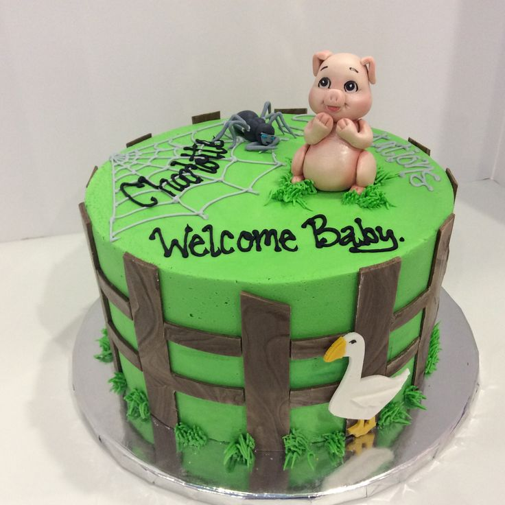 28 Best Charlotte's Web Cakes/cupcakes Images On Pinterest