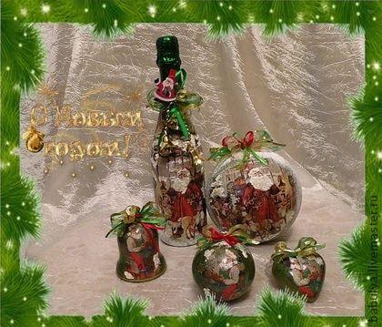 Новогодний набор Зеленая зима. Новый год, снег, подарки - это буквально возвращает в детство. Яркие, сверкающие предметы в праздник Нового года, это то, что надо для поднятия настроения.    Комплект может быть продан целиком или по отдельности.