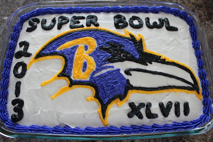 Baltimore Ravens Super Bowl Cake