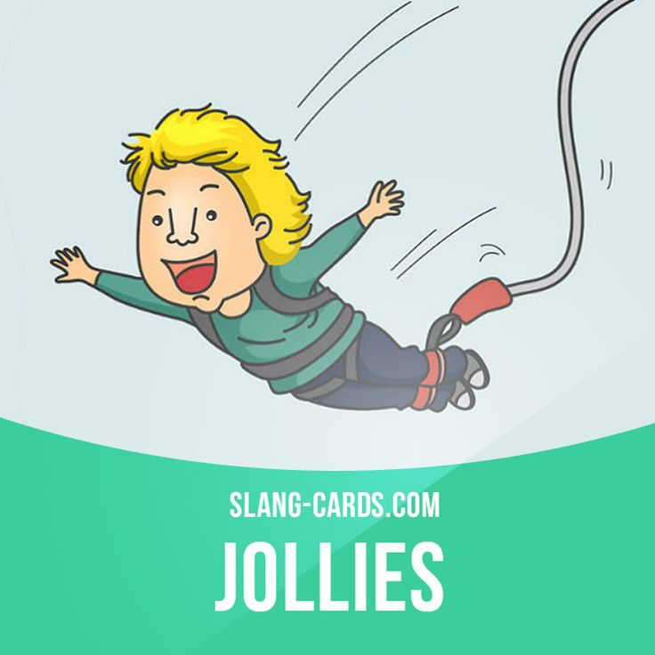 """""""Jollies"""" means fun, thrills, enjoyment.  Example: A lot of young people get their jollies from doing adventure stuff like white-water rafting and bungee-jumping."""