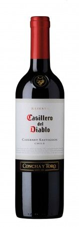 """Casillero del Diablo  Cabernet Sauvignon. """"dark, ruby red with aromas of cherries, black currant and dark plums. This Cabernet Sauvignon is very concentrated, rich in flavor, perfectly balanced, and boasts a satisfying and lingering finish.  Food Pairing: This classic, well structured, perfectly balanced Cabernet Sauvignon goes well with the heartiest cuisine, including roasts, stews, game, piquant pasta dishes and robust cheeses."""""""