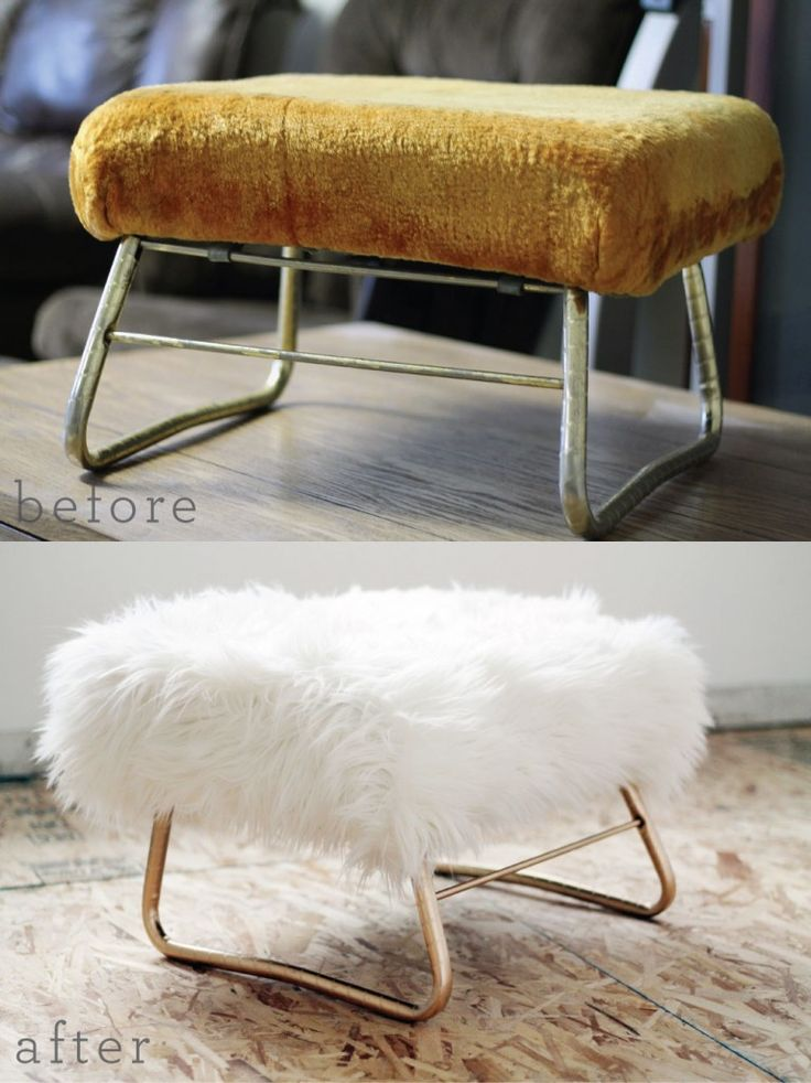 A DIY revamped ottoman