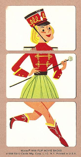 Majorette | 1956 Mixies® by Ed-U-Cards