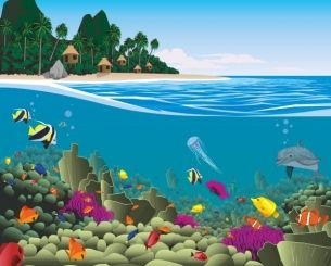 Cool Fototapete Beach Life Genie e den Tag am Meer und mach Dein Kinderzimmer zur einzigartigen Wohlf hloase