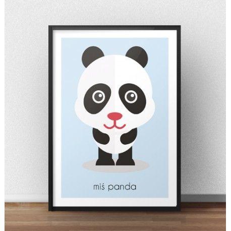 Plakat z misiem pandą powinien zawisnąć na ścianie pokoju Twojego dziecka! Dzięki pastelowym kolorom i sympatycznym zwierzątkom pokój dziecka będzie przytulny