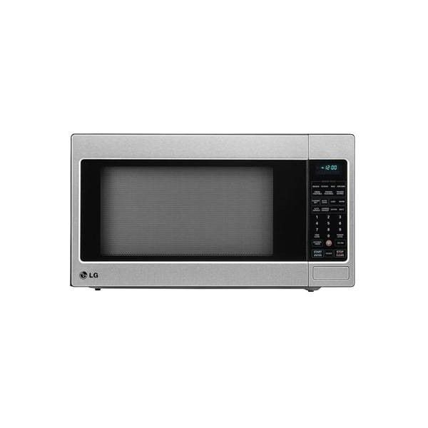 LG LCRT2010ST 2.0 Cu. Ft. Countertop Microwave Oven with TrueCookPlus™ ($208) ❤ liked on Polyvore featuring home, home improvement, household appliances, countertop, microwave, microwave ovens and stainless steel