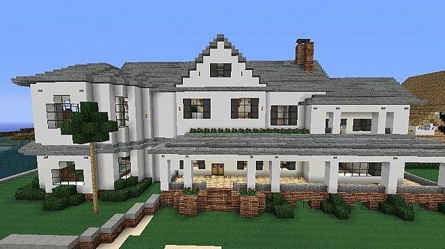 minecraft+beach+houses | Modern White Beach House
