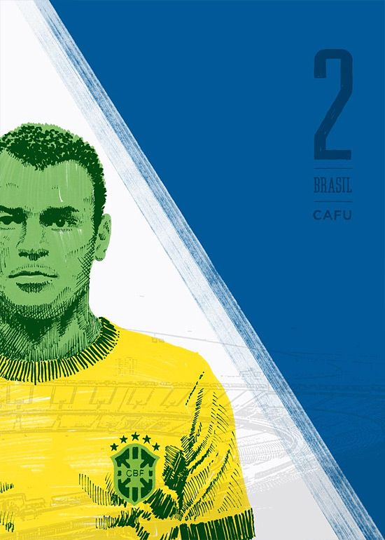 #2 Cafu - 11 Series: Soccer Illustrations by Ty Palmer