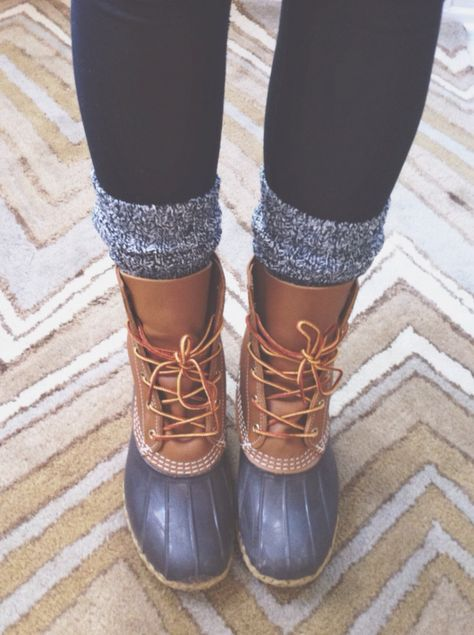 love this cozy look of duck boots