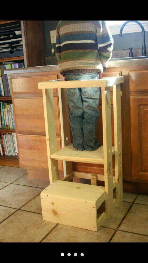Safe Toddler Learning Tower, Child Safety Kitchen Stool Mommyu0027s Helper,  Kitchen Helper