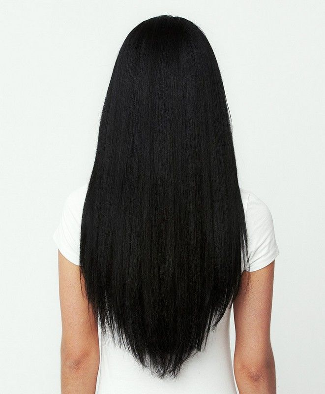 Black hair extensions for prom night. Because my hair is currently in a very trendy bob, I  would love the length for this night!