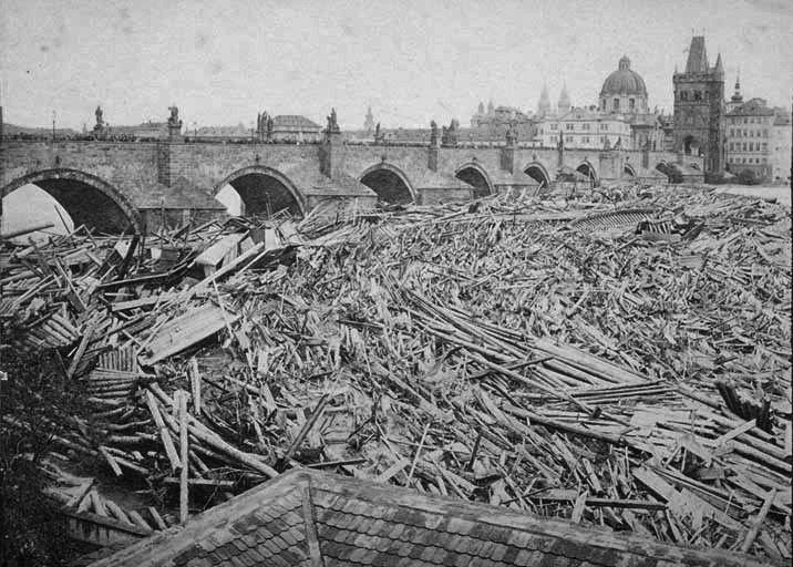 FFridrich, Karluv most, Praha, povoden 1872 - Flottage du bois — Wikipédia