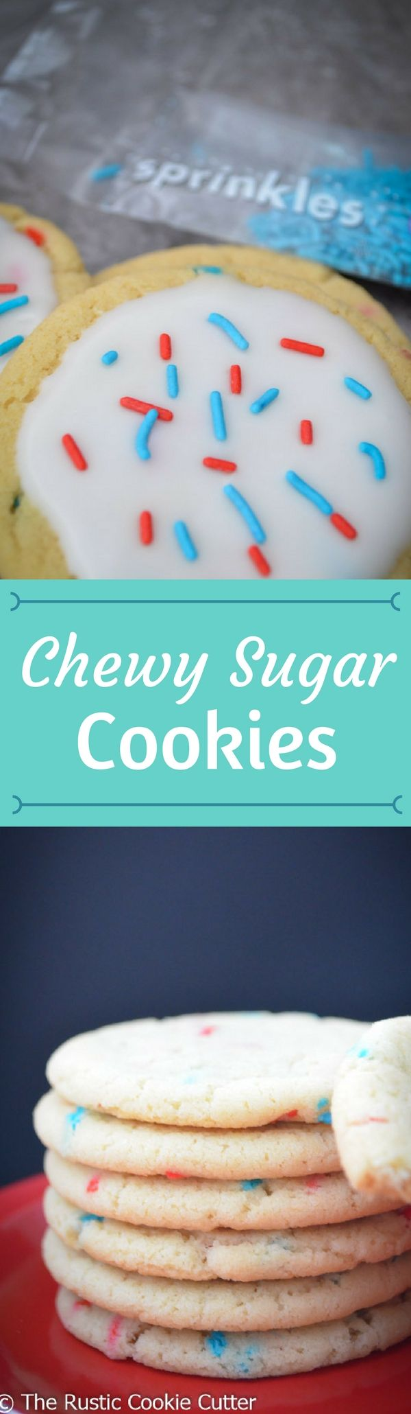 Chewy Sugar Cookies - They're good any way you make them!  Frosted or unfrosted.  Colored or not.  Sprinkled or plain.  Sandwiches or singles.
