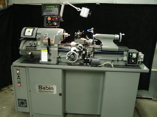 Babin Machine Tool version of a Hardinge style is their TML-5Cem lathe offers the same benefits and accuracies as the more expensive Hardinge HLV model. Spindle run out within 50 millionths of an inch (0.0015mm).