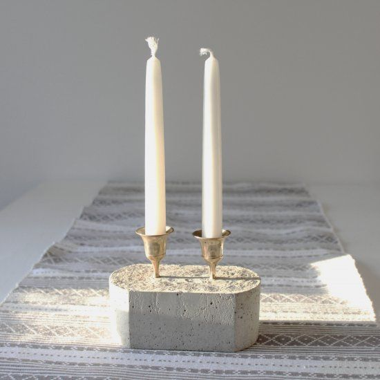 Make your own candle holders with concrete and thrifted ...