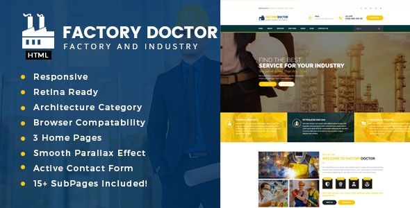 nice Factory Physician - Factory &amp Industrial Company Template (Company)