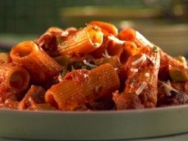 Chicken Sausage Rigatoni in a Spicy Vodka Sauce from Cooking for Real