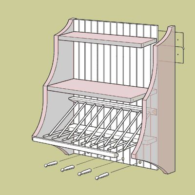 Illustration: Gregory Nemec | thisoldhouse.com | from How to Build a Plate Rack