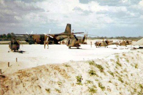 C160Z , Puma and Alouette gunships at Eenhana