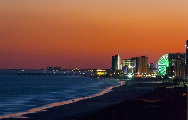 Myrtle Beach SC | Sunset at Myrtle Beach, South Carolina