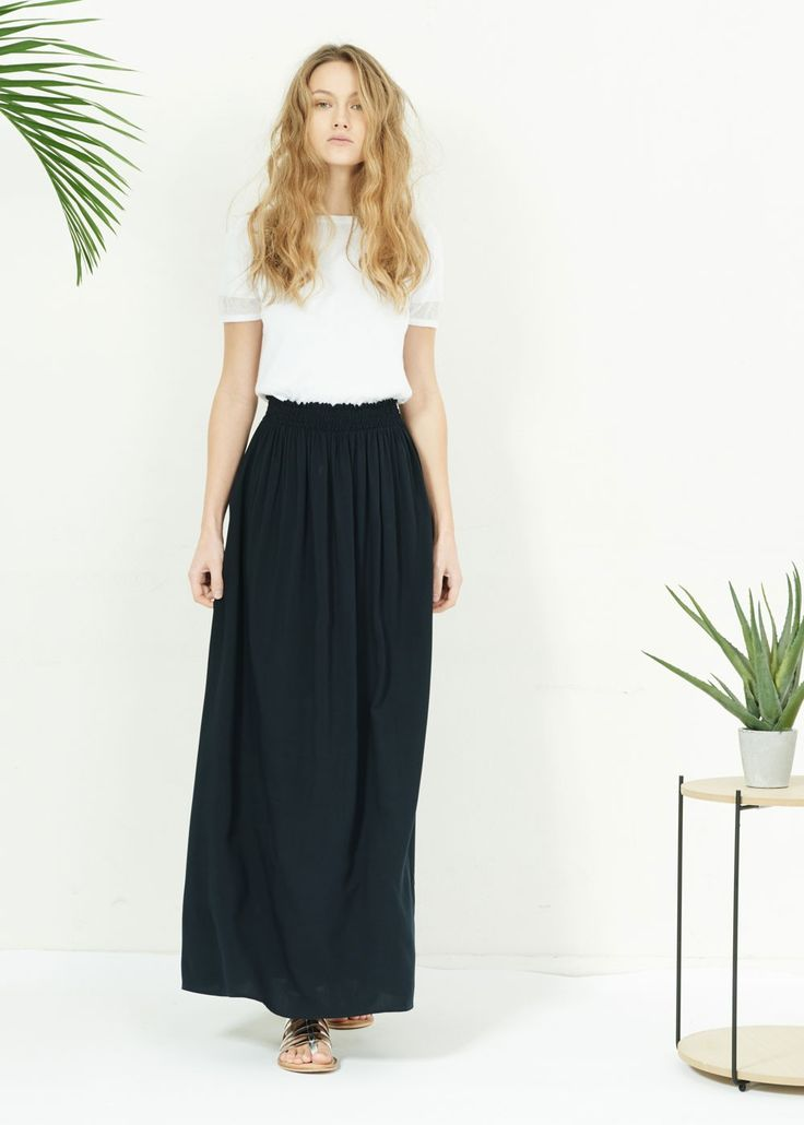 Jupe jaustin marine - robes et jupes femme - sud express 1