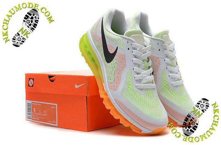 site de chaussure nike air max 2014 Femme Blanc/Orange/Jaune