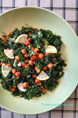 塩レモンとケールとひよこ豆のサラダ  Kale, Garbanzo Beans and Preserved Lemon Salad  #塩レモン #ケール #ひよこ豆 #サラダ #レシピ