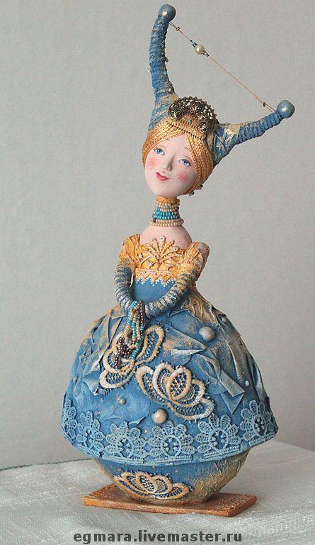 """Купить Кукла-шкатулка """"Зимнее утро"""" - авторская кукла, коллекционная кукла, кукла-шкатулка"""