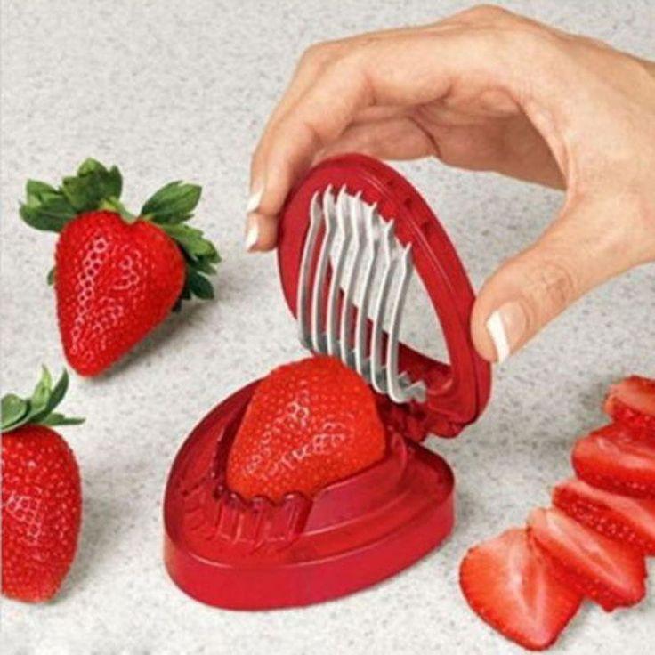 Morango Berry Stem Gem folhas Huller removedor de frutas Corer Slicer cortador divisão alishoppbrasil