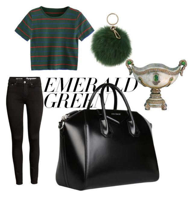 """Untitled #151"" by isagarcia18 on Polyvore featuring Givenchy, Coccinelle and emeraldgreen"