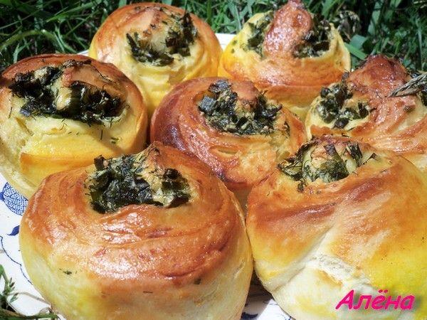 Чесночные булочки с сыром и зеленью. от пользователя «pilipenkoalena» на…