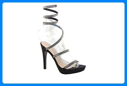 ShuCentre , Damen Sandalen, schwarz - schwarz - Größe: 40 2/3 EU - Sandalen für frauen (*Partner-Link)