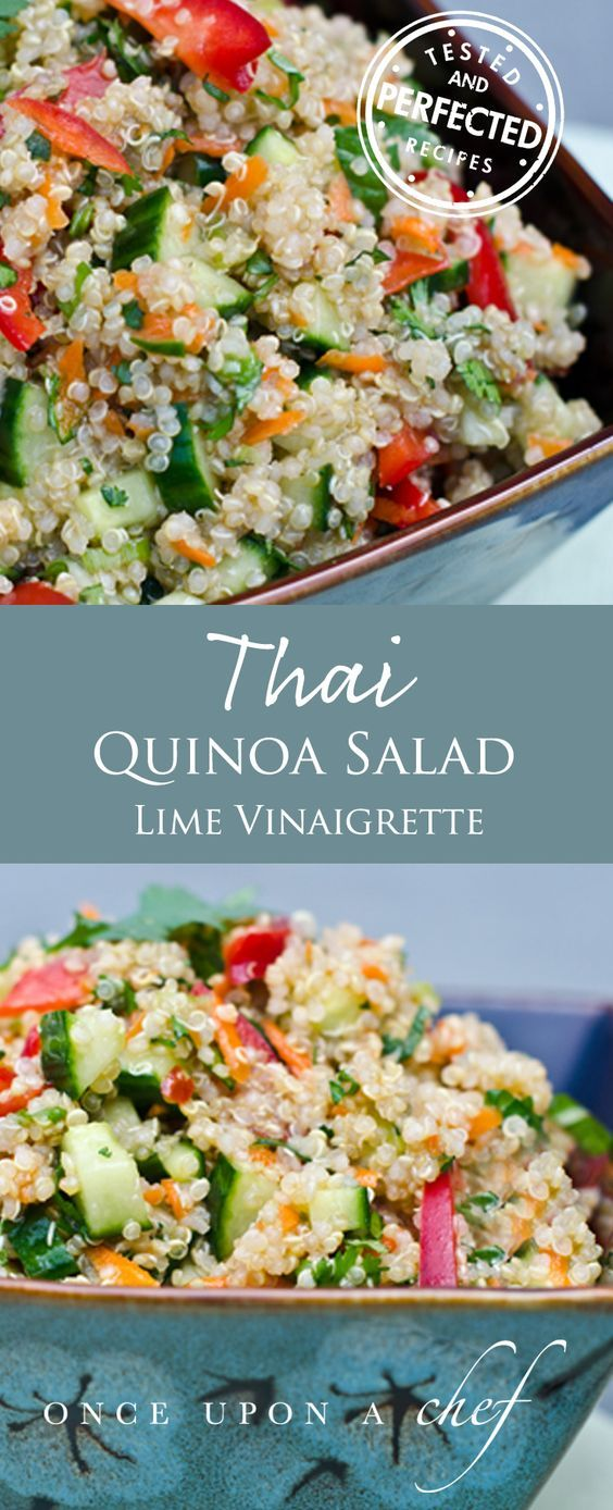Thai Quinoa Salafd with Fresh Herbs and Lime Vinaigrette