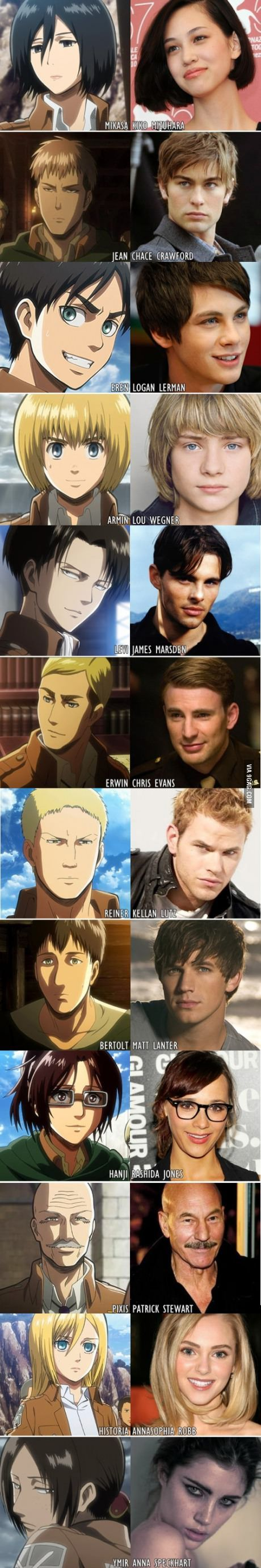 This would have been a better cast, in my opinion that is. But Levi's actor needs a change.