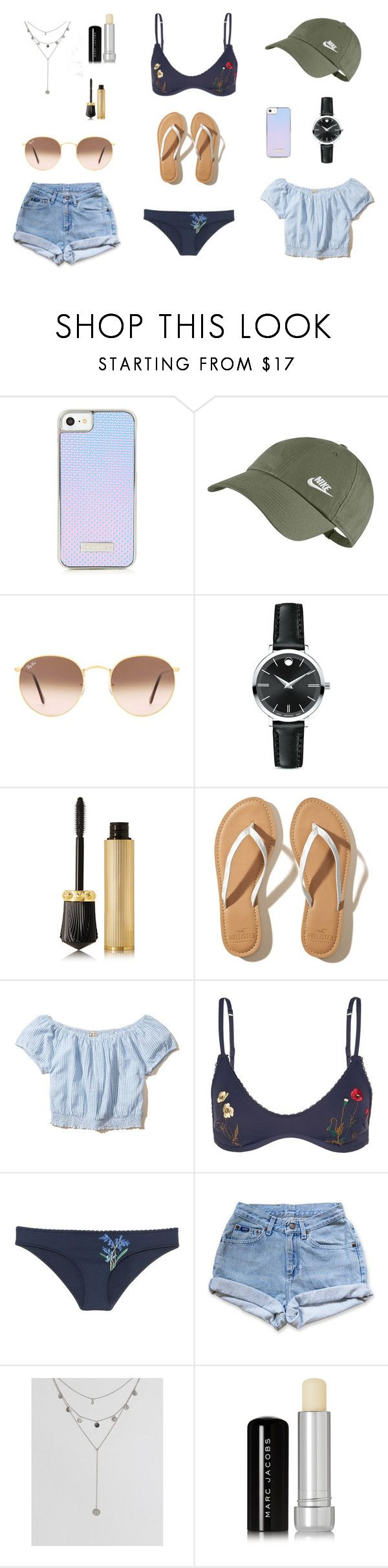 """""""Sunday funday in Somerset, Bermuda"""" by vi-luise ❤ liked on Polyvore featuring NIKE, Ray-Ban, Movado, Christian Louboutin, Hollister Co., STELLA McCARTNEY, Levi's, ASOS and Marc Jacobs"""