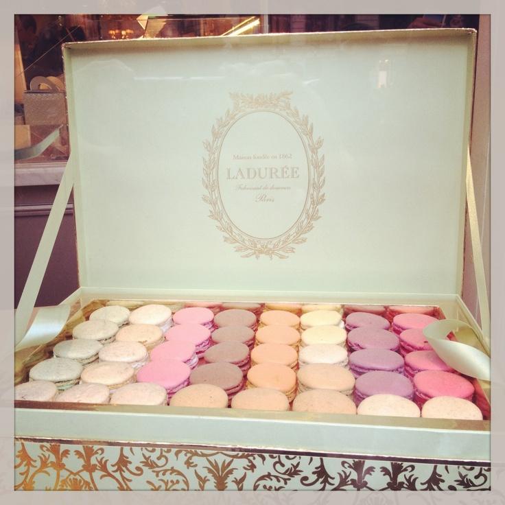 Box Of LaDuree Macarons Petite Edible Fancies Cake