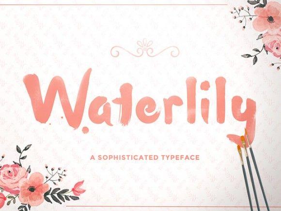 Free Waterlily free handwriting font - http://www.vectorarea.com/free-waterlily-free-handwriting-font
