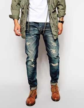 Replay Jeans Maestro Temar Regular Tapered Dirty Distress