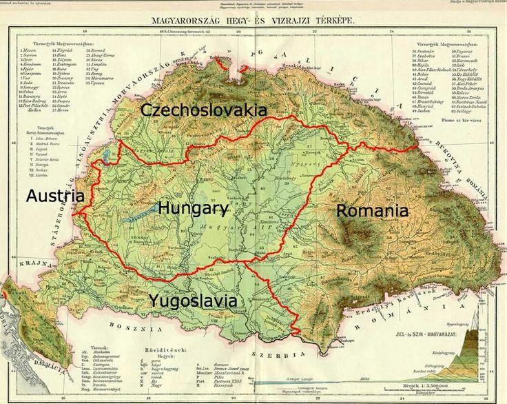 Hungary map