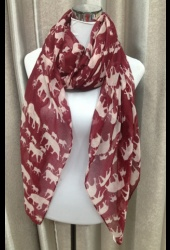 The Ellie Crimson Scarf...perfect for Alabama football games