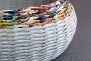 Фото 1 Плетение корзин из газетных трубочек: осваиваем модное рукоделие (54 фото)