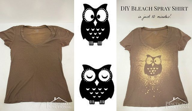 DIY Bleach Spray Shirt In Just 10 Minutes!