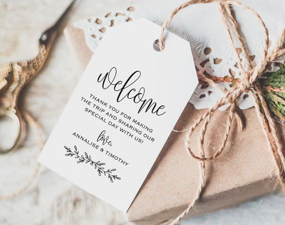 welcome tag wedding welcome bag tag wedding by blisspaperboutique