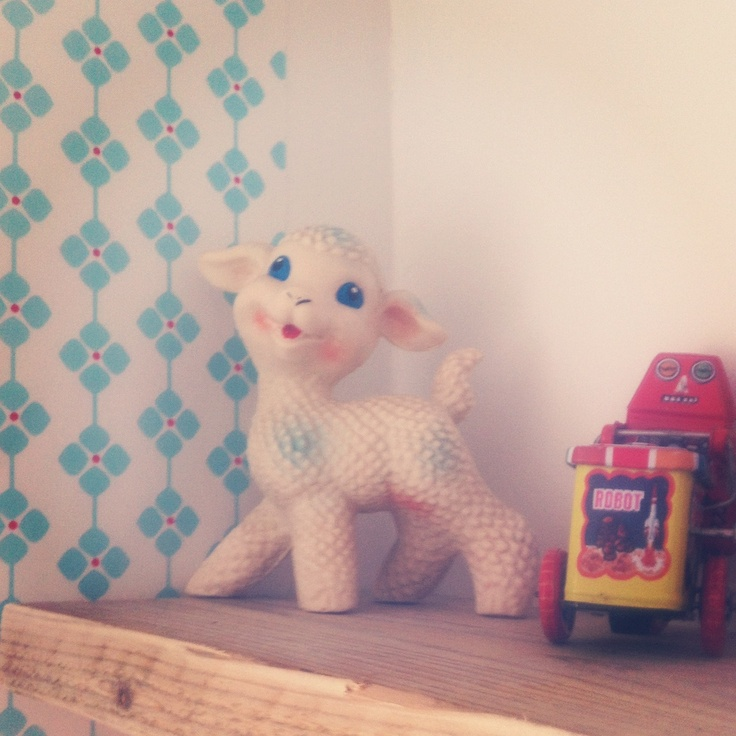 Vintage toys all over our place..