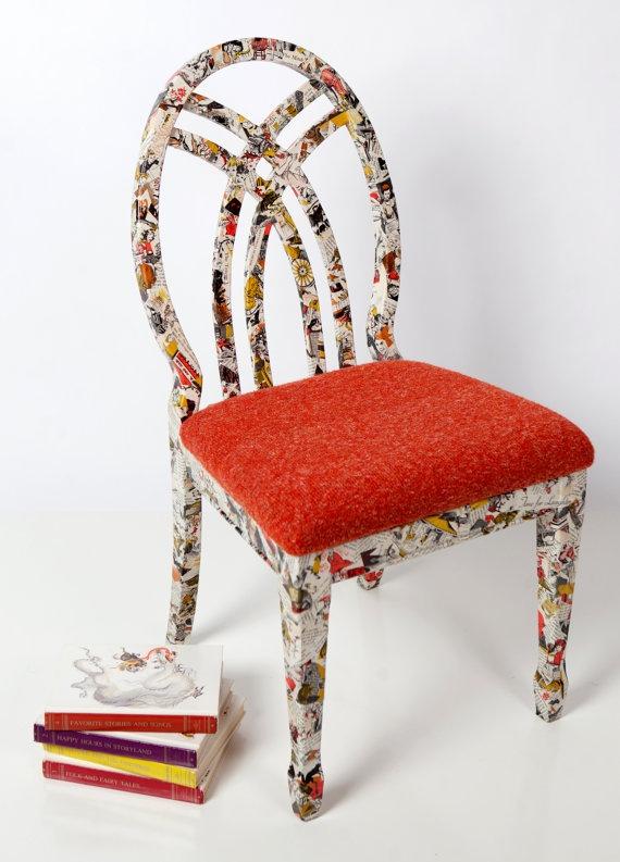 decoupage chair... I like it!
